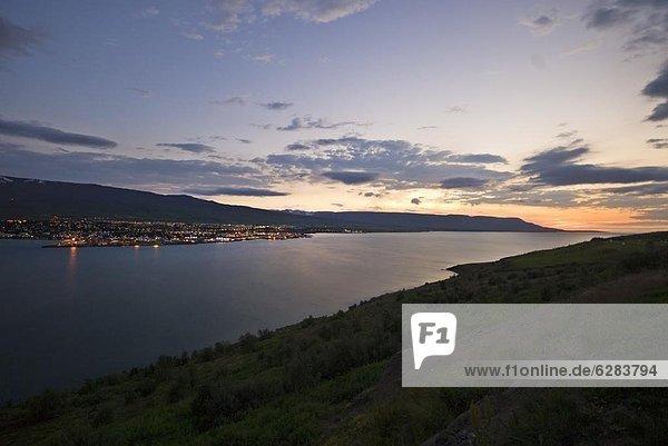 Nacht  Großstadt  Akureyri