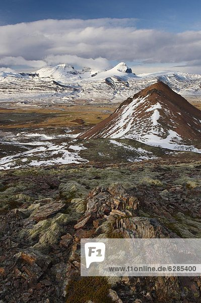 Berg  Tür  Dorf  entfernt  Fjord  Island
