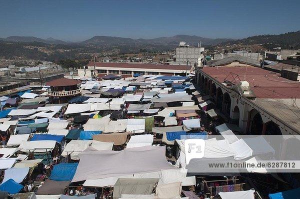 Markt  San Francisco El Alto  Guatemala  Zentralamerika