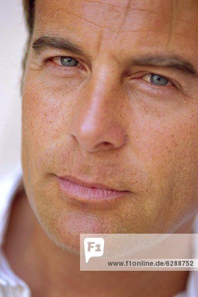 Close up of a man's Gesicht