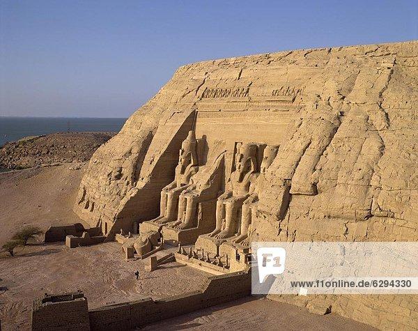 Great Temple of Ramses II  Abu Simbel  UNESCO World Heritage Site  Nubia  Egypt  North Africa  Africa