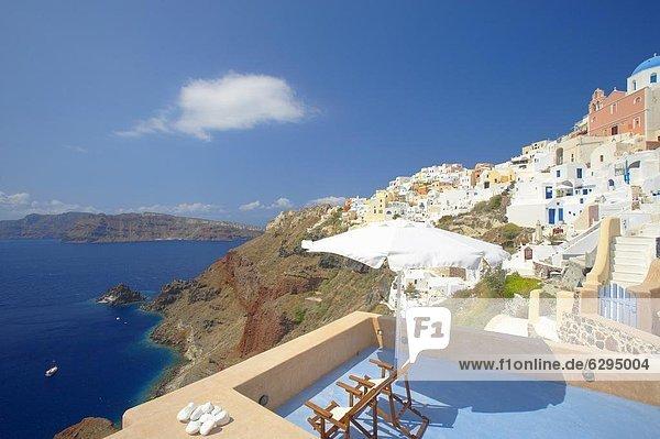 Europa Santorin Kykladen Griechenland Griechische Inseln