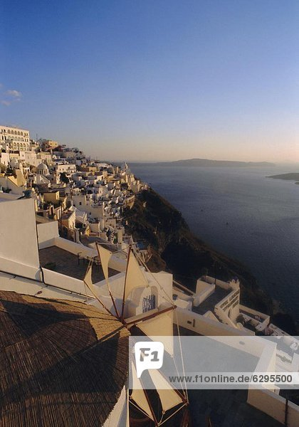 Thira (Fira)  Santorini  Cyclades Islands  Greece  Europe