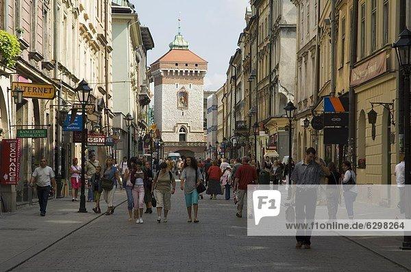 Stadtmauer  Europa  sehen  Straße  Wachturm  Eingang  UNESCO-Welterbe  alt  Polen