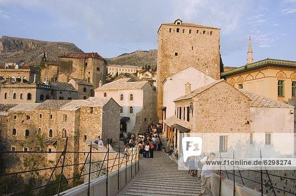 Europa Ruhe Brücke Fluss Mostar