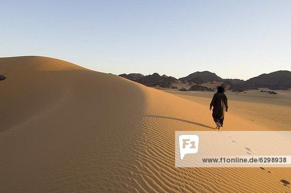 Tuareg  Akakus  Sahara Wüste  Fessan  Libyen  Nordafrika  Afrika