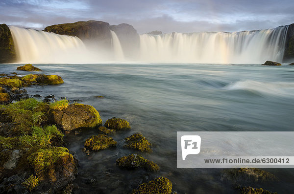 Go_afoss waterfall on the Skj·lfandafljÛt river  Ring Road  Nor_urland eystra  Northeast Iceland  Iceland  Europe