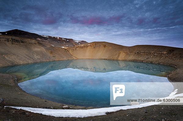 Krafla volcano on lake VÌti  Nor_urland eystra  north-east region  Iceland  Europe