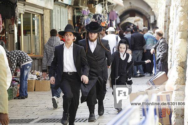 Juden in der Altstadt von Jerusalem  Yerushalayim  Israel  Naher Osten