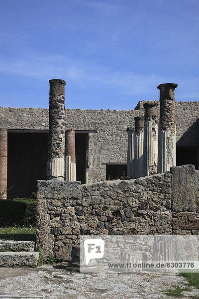 An der Via della Fortuna  Pompeji  Kampanien  Italien  Europa