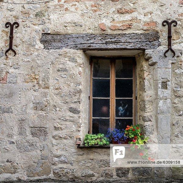 Detail Details Ausschnitt Ausschnitte Anschnitt Frankreich Schönheit Wohnhaus Teamwork Dorf Aude Lagrasse