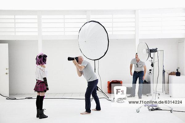 Fotografie  Modell  Fotograf  schießen  Mode