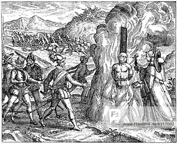 historische zeichnung ein m nch h lt einem gefolterten