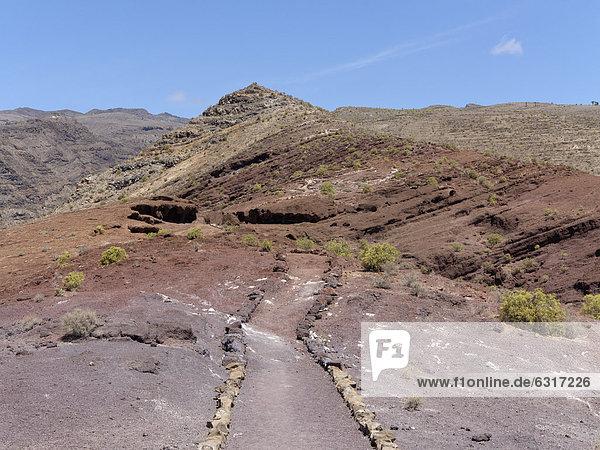 Wanderweg Sendero Quise  AlajerÛ  La Gomera  Kanarische Inseln  Kanaren  Spanien  Europa