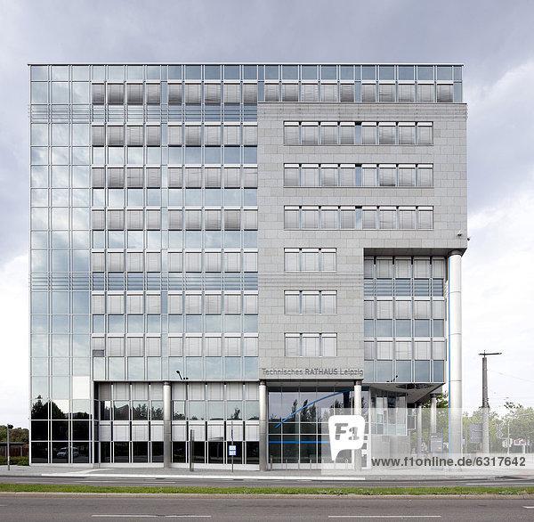 Technisches Rathaus  Leipzig  Sachsen  Deutschland  Europa  ÖffentlicherGrund