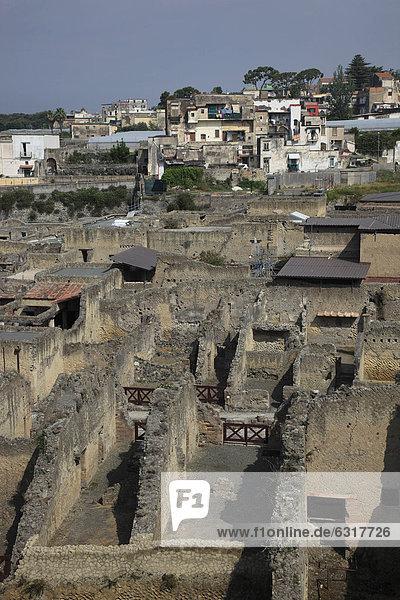 Ruinenstadt Herculaneum  Kampanien  Italien  Europa