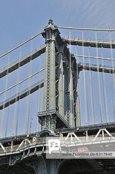 Manhattan Bridge  Manhattan  New York City  USA  Nordamerika  Amerika  ÖffentlicherGrund