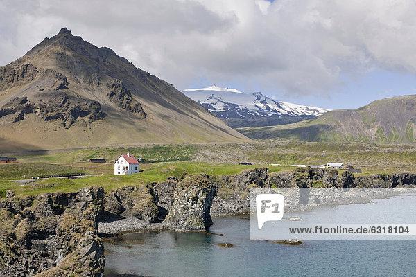 Europa Berg Vulkan Arnarstapi Island