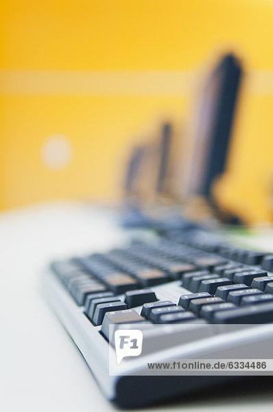 Nahaufnahme der Computertastatur