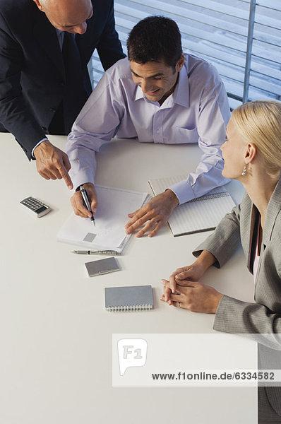 Business associates brainstorming together