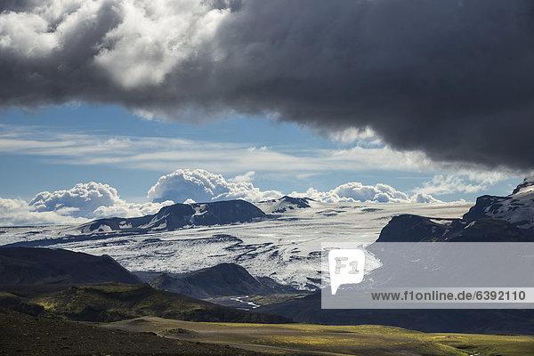 Gletscher Eyafjallajökull  Hochland  Island  Europa
