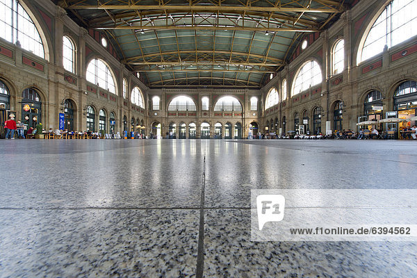 Concourse of the central railway station,  Zurich,  Canton of Zurich,  Switzerland,  Europe
