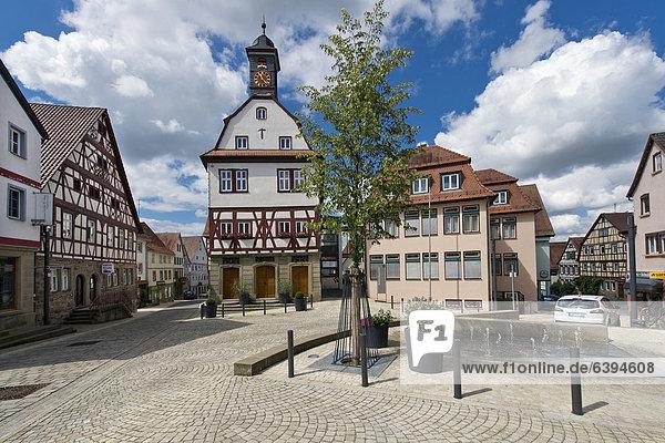 Europa Baden-Württemberg Deutschland Altes Rathaus