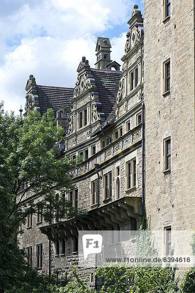 Schloss Neuenstein  ursprünglich ein Wasserschloss aus der Stauferzeit  Sitz des Hohenlohe-Zentralarchiv Neuenstein  Hohenlohe  Baden-Württemberg  Deutschland  Europa