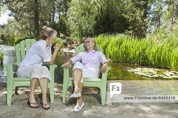 Frau Mann Entspannung Hintergrund reifer Erwachsene reife Erwachsene angeln Mutter - Mensch