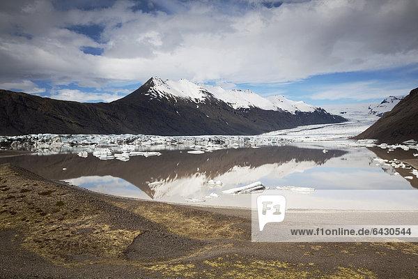 Heinabergsjoekull glacier  East Iceland  Iceland  Europe
