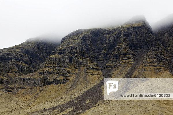 Bergflanke  Ostisland  Island  Europa