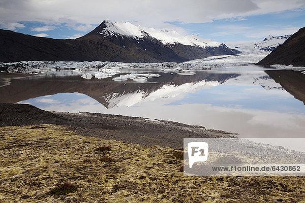Heinabergsjoekull  eastern Iceland  Iceland  Europe