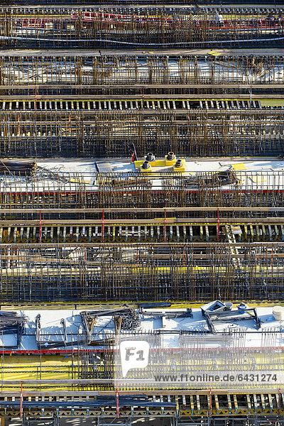 Bewehrungsstahl oder Betonstahl  Baustelle  Stuttgart  Baden-Württemberg  Deutschland  Europa