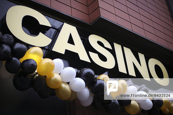 One of Berlin's numerous gambling halls  the number of gambling halls in Germany is increasing  Turmstrasse street  Moabit district  Berlin  Germany  Europe