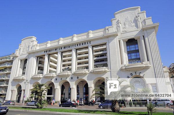 Hotel Palais de la Mediterranee  Nizza  Alpes-Maritimes  Provence-Alpes-Cote d'Azur  Südfrankreich  Frankreich  Europa  ÖffentlicherGrund
