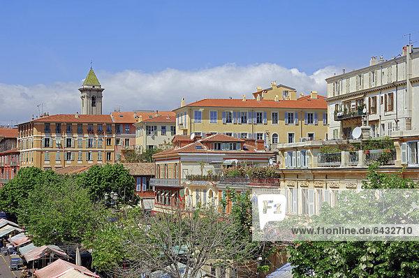 Stadtansicht  Nizza  Alpes-Maritimes  Provence-Alpes-Cote d'Azur  Südfrankreich  Frankreich  Europa  ÖffentlicherGrund