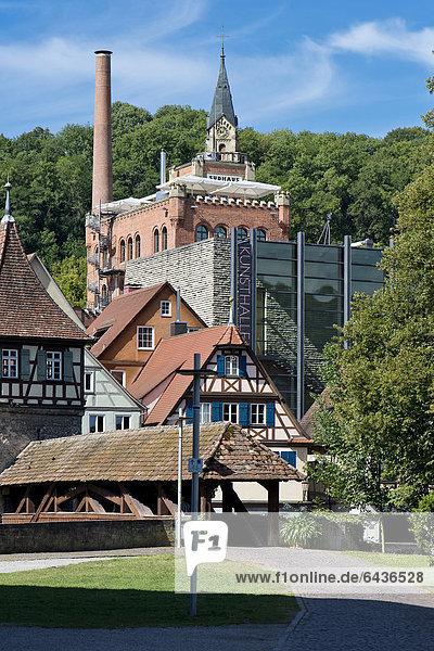 Kunsthalle Würth  Katharinenkirche  Roter Steg  Katharinenvorstadt  Schwäbisch Hall  Hohenlohe  Baden-Württemberg  Deutschland  Europa