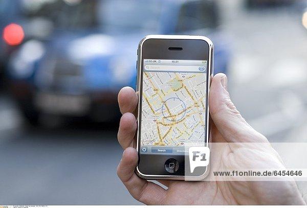iPhone mit Stadtplan