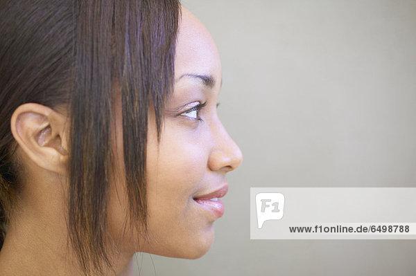 hoch  oben  nahe  Profil  Profile  Frau