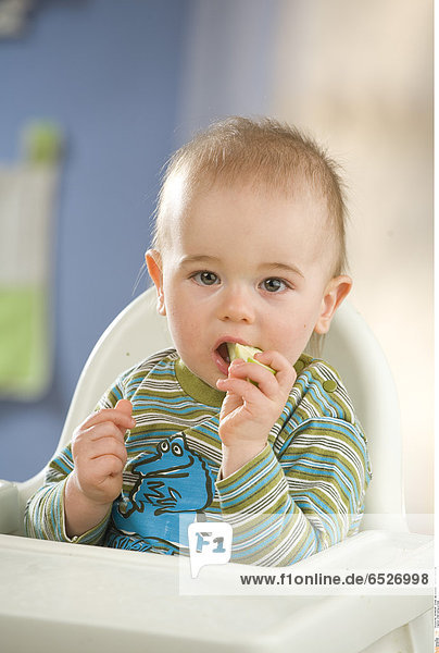 Child eating a meal.