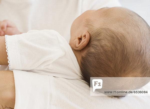 hoch  oben  nahe  Neugeborenes  neugeboren  Neugeborene  Baby