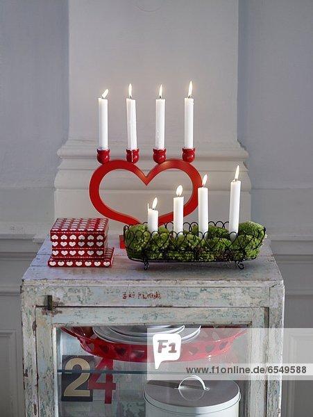 Weihnachten Dekoration Kerze