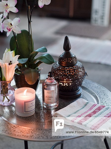 Blume Close-up Kerze Tisch