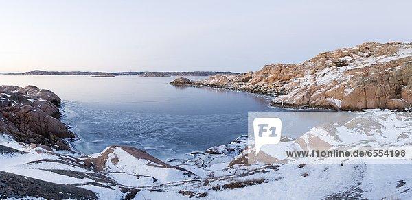 Winter  Steilküste  Meer