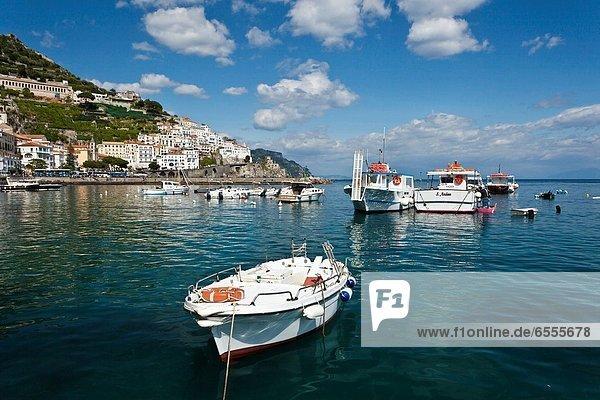 Hafen  Stadt  Boot  Ansicht  Amalfi  Salerno