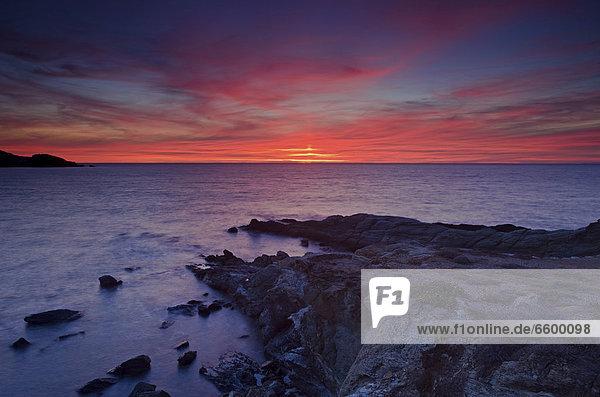 nahe Hafen Frankreich Europa Sonnenuntergang Mütze Küste Korsika