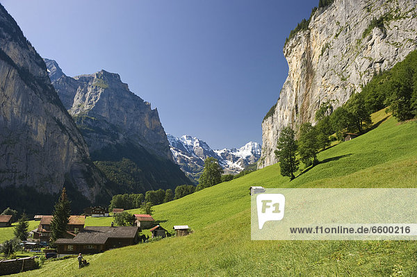 Europa Berner Oberland Lauterbrunnen Schweiz Kanton Bern