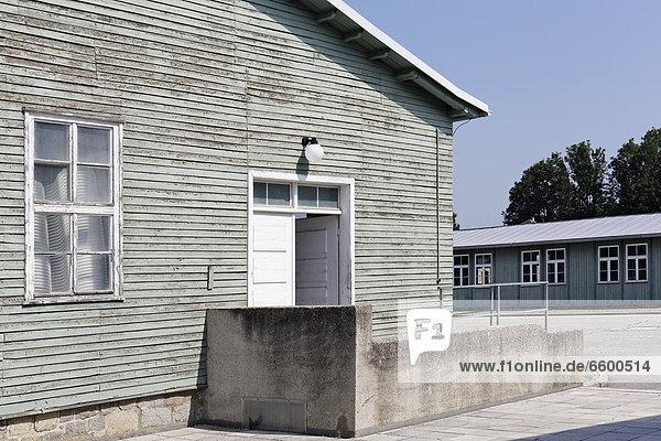 Entrance to the barracks  Mauthausen Concentration Camp  Perg  Upper Austria  Austria  Europe