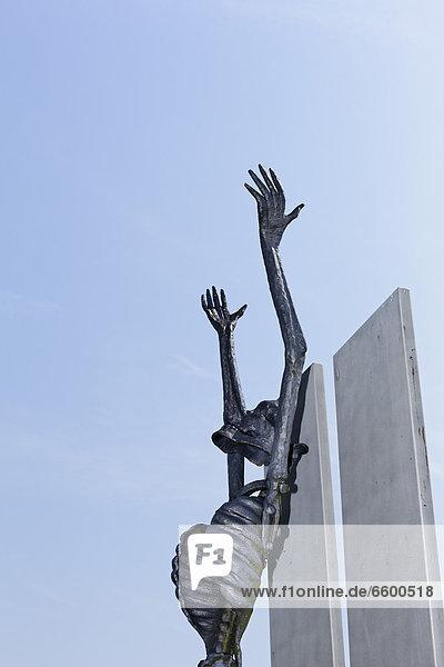 Monument  memorial of the Republic of Slovenia in the Monument Park  Mauthausen Concentration Camp  Perg  Upper Austria  Austria  Europe