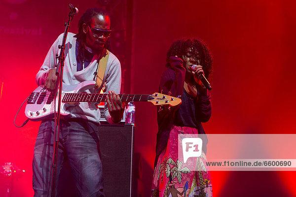 The British dub and reggae singer Hollie Cook performing live at the Lucerne Hall of the KKL  Blue Balls Festival  Lucerne  Switzerland  Europe